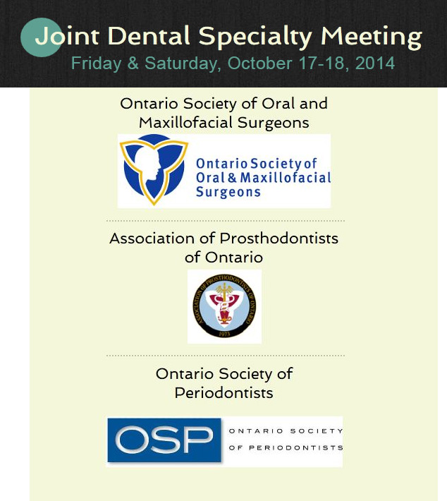 APO Joint Dental Specialty meeting october 2014
