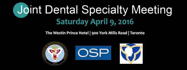 Joint Dental Specialty Meeting April 2016